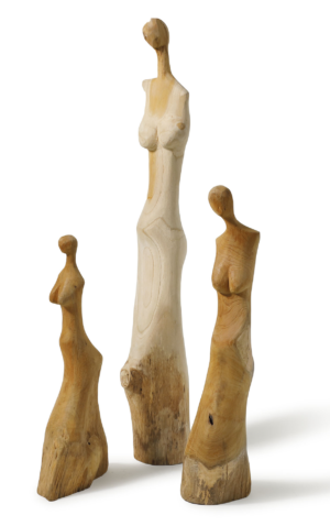 Standbeeld Hout Abstract Woman